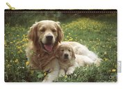Golden Retrievers Dog And Puppy Carry-all Pouch