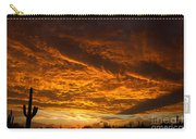Golden Saguaro Carry-all Pouch