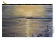 Golden Sea View Carry-all Pouch