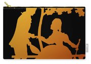 Golden Silhouette Garden Proposal Will You Marry Me Carry-all Pouch