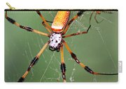 Golden Silk Spider Capturing A Stinkbug Carry-all Pouch