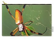 Golden Silk Spider With Stinkbug Prey Carry-all Pouch