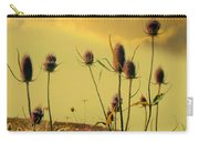 Teasels Reach For The Golden Sky Carry-all Pouch
