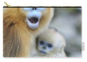 Golden Snub-nosed Monkey And Young China Carry-all Pouch