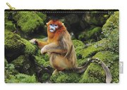 Golden Snub-nosed Monkey Male China Carry-all Pouch