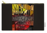 Golden Stained Abstract Carry-all Pouch