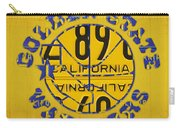 Golden State Warriors Basketball Team Retro Logo Vintage Recycled California License Plate Art Carry-all Pouch