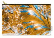 Golden Steel Swirl Carry-all Pouch