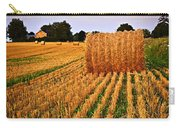 Golden Sunset Over Farm Field In Ontario Carry-all Pouch by Elena Elisseeva