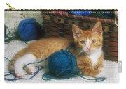 Golden Tabby Kitten Carry-all Pouch