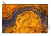 Golden Waves Of Blue Carry-all Pouch