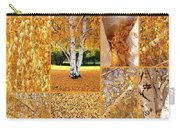 Golden Weeping Birch Tree Collage Carry-all Pouch