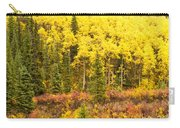 Golden Yellow Fall Boreal Forest In Yukon Canada Carry-all Pouch
