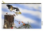 Goldfiches Flying Over Lichen Stump Carry-all Pouch