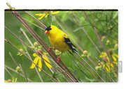 Goldfinch In The Flowers Carry-all Pouch