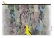 Goldfinch In Wildflowers Carry-all Pouch
