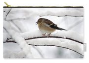 Goldfinch On Snowy Branches Carry-all Pouch