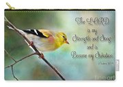 Goldfinch With Rosy Shoulder - Digital Paint And Verse Carry-all Pouch