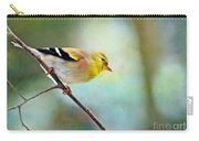 Goldfinch With Rosy Shoulder - Digital Paint IIi Carry-all Pouch