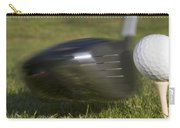 Golf Ball On Tee Hit By Driver Carry-all Pouch