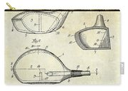 1926 Golf Club Patent Drawing Carry-all Pouch