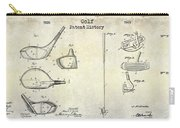 Golf Patent History Drawing Carry-all Pouch