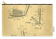 Golf Sand Wedge Patent On Aged Paper Carry-all Pouch