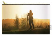 Golfer At Sunset Carry-all Pouch