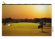 Golfer Walking On A Golf Course Carry-all Pouch