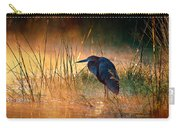 Goliath Heron With Sunrise Over Misty River Carry-all Pouch