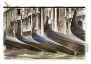 Gondolas-in-waiting   Venice Carry-all Pouch