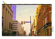 Good Morning Drive By Yonge St Starbucks Toronto City Scape Paintings Canadian Urban Art C Spandau  Carry-all Pouch