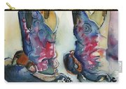 Cowboy Boots In Watercolor Good Ride Carry-all Pouch