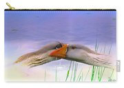 Goose Kiss - Featured In Comfortable Art - Nature Wildlife - Wildlife Groups Carry-all Pouch