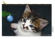Gorgeous Christmas Kitten Carry-all Pouch