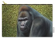 Gorilla With A Hedge Carry-all Pouch by James W Johnson
