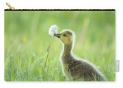 Gosling With Dandelion Carry-all Pouch