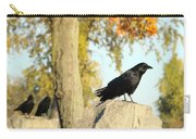 Three Ravens On A Gothic Graveyard Day Carry-all Pouch