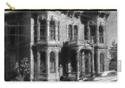 Gothic House Black And White Carry-all Pouch
