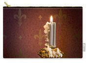 Gothic Scene With Candle And Gilt Edged Books Carry-all Pouch