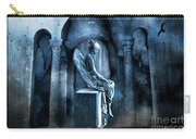 Gothic Surreal Angel In Mourning With Ravens Carry-all Pouch