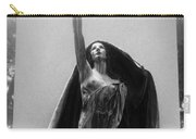 Gothic Surreal Haunting Female Cemetery Mourner Figure Black Caped Woman In Front Of Gravestone Carry-all Pouch