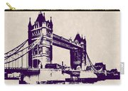 Gothic Victorian Tower Bridge - London Carry-all Pouch