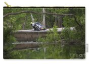 Superbike On Creek Bridge Carry-all Pouch