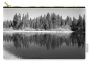Grace Lake Reflections In Black And White Carry-all Pouch