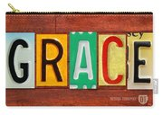 Grace License Plate Name Sign Fun Kid Room Decor. Carry-all Pouch