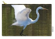 Graceful Great Egret Flying Carry-all Pouch