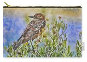 Grackle In Flowers Carry-all Pouch