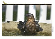 Grackle In The Bird Bath 1 Carry-all Pouch