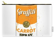 Graffiti Carrot Spray Can Carry-all Pouch by Gary Grayson